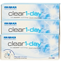 Clear 1 Day 90 Tageslinsen (ClearLab) Packungsinhalt: 3 x 30 Linsen