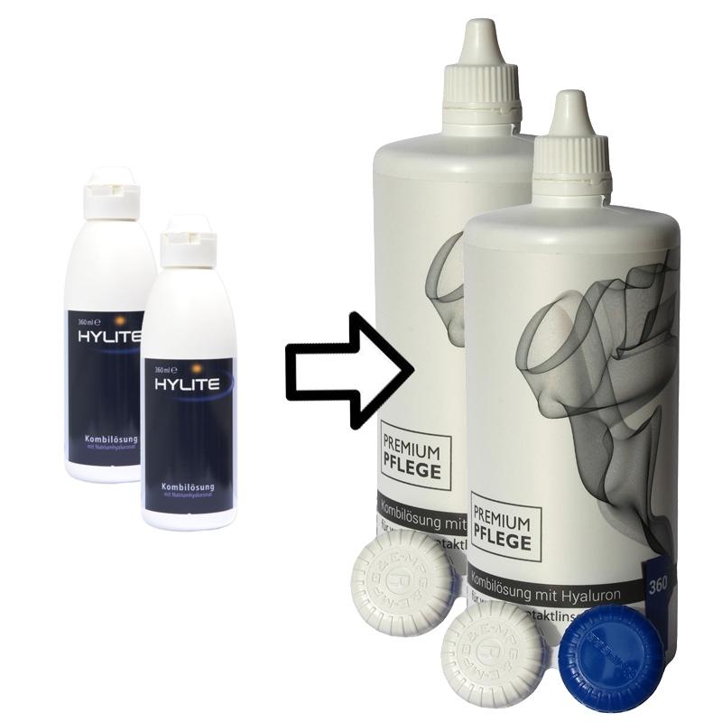 60% günstig Neupreis preisreduziert Hylite Kombilösung (Prologis) 360 ml mit Hyaluronsäure ...